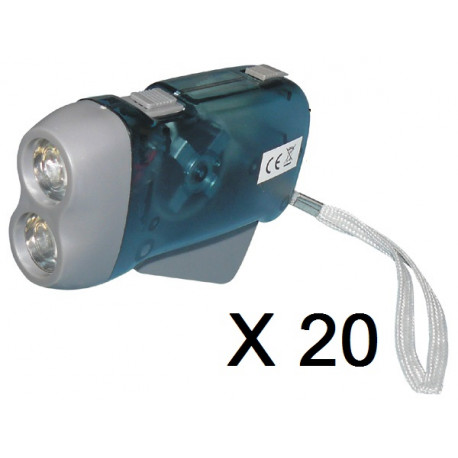 20 X 2 led dynamo flashlight without battery charging some pressure innovaley