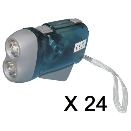 24 X 2 led dynamo flashlight without battery charging some pressure innovaley