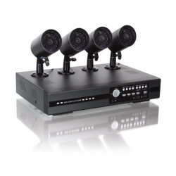Pack 4 cameras ir cctv dvr H264 + 4 cable 20m video recorder monitoring cctvprom16