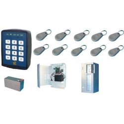 Acces control pack entry exit with 1 proximity self activated badge reader access control pack access control kit aelectronic ac
