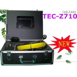 Camera color video inspection pipe 40m usb led unblocking pipe endoscope tec-z710