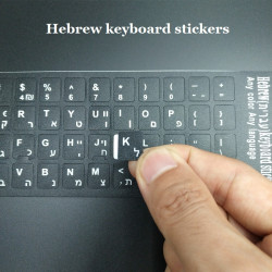 Keys stickers french israel Hebrew QWERTY Keyboard Computer