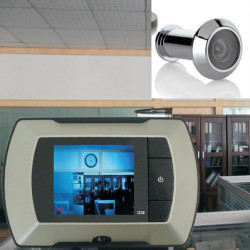 2.4 Door Viewer Peephole Doorbell Camera DVR Night Vision 120 Degree 3X ZOOM