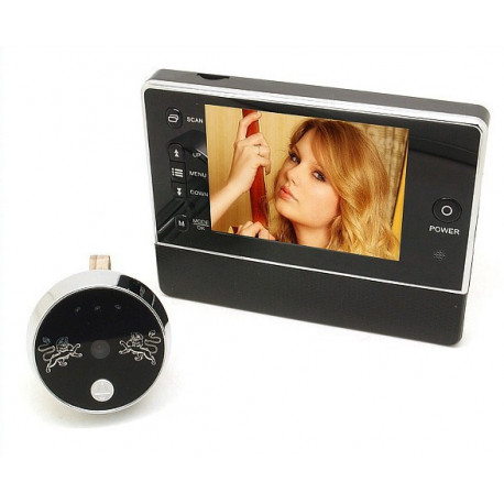 3.5 Door Viewer Peephole Doorbell Camera DVR Night Vision 120 Degree 3X ZOOM