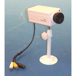Camera surveillance audio video n/b noir et blanc 9v support pour moniteur m12s1 8v