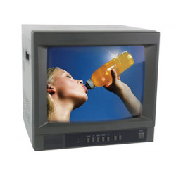 14' colour monitor with 2 video & 2 audio inputs & outputs