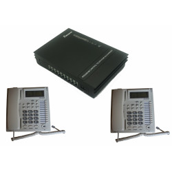 Telephone system intercom transfer privacy small office home 1 line 8 station