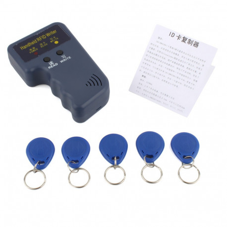 Handheld 125Khz RFID Card Reader Copier Writer Duplicator Programmer ID  Card Copy + 5pcs EM4305 each Writable tags - JR international / Eclats