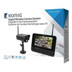 Digital camera system with 2.4 GHz wireless monitor 18 cm 7 '
