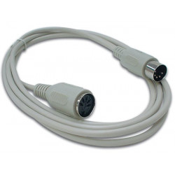Cable DIN5 male keyboard verd DIN5 female / 2m