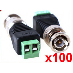 Mini Coax CAT5 To Camera CCTV BNC UTP Video Balun Connector Adapter BNC Plug For CCTV System