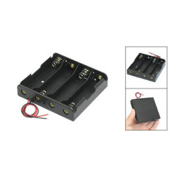"4pcs 18650 Case Holder 18650 Battery Holder Case with 6"" leads for soldering"