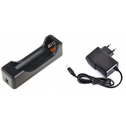 Boitier pour 1 Batterie rechargeable 18650 3.7v + chargeur 220v 4.2v