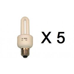 5 X Bulb electrical bulb lighting 12v 7w e27 energy saver electrical bulb electrical lighting