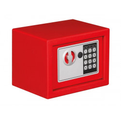 Electronic safe box 23x17x17cm red
