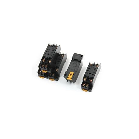5 X Relay socket pyf08a omron 8 pin din rail for my-2 my2nj hh52p h3y-2, Omron Pin Relay Wiring on