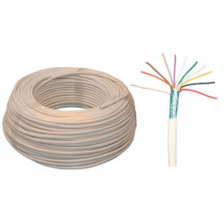 Sheathed flexible cable, 10x0.22 ø5.5mm, white, 100m for alarm system installation phone cable fire alarm cable signal cable she