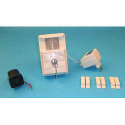 Pack electronic alarm system (infrared + siren + 3 contacts)