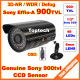 """1/3""""Sony Effio-A 900TVL 48 Led IR 35 Meters with OSD menu Indoor/Outdoor security night vision CCTV Camera with bracket"""