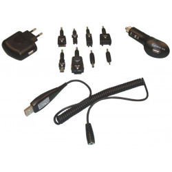 3 in 1 usb charger set including 8 plugs pssmv11n