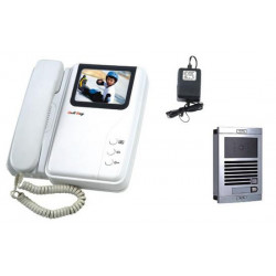 Intercom electronic colour 6 wire surface mounting video doorphone (camera+monitor) color video doorphone video doorphone entry