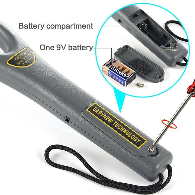 Gc-101h Led Light Military Used Hand Held Metal Detectors For Body Detection Tools