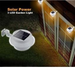 3 Bright White LED Garden Led Solar light Outdoor Waterproof Garden Yard Wall Pathway Lamp For Driveways outdoor parties
