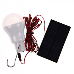 Use Portable Solar Power LED Bulb Lamp outdoor CampTent Fishing Lamp mobile Emergency light