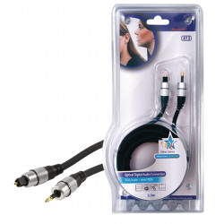 Digital audio cable toslink m 3.5 optical m toslink male optical 3.5 mm male 2.50m