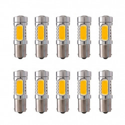 10 x 1156 ba15S s25 7.5w cob car led lamps tail brake headlight fog turn signal bulbs replace hid xenon