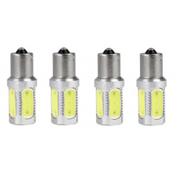 4 x 1156 ba15S s25 7.5w cob car led lamps tail brake headlight fog turn signal bulbs replace hid xenon