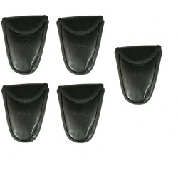 5 X Single Black Hidden Snap Handcuff Case holster pouch to carry handcuffs