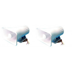 Pack 2 Siren Dual Tone Indoor Outdoor Self-Contained Electric Security SD-30W 6-12VDC 1.1Ah