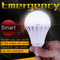 12W E27 LED Intelligent Emergency Bulbs Human Body Induction Rechargeable Lamps with Hook
