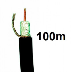 Coaxial cable, 75 ohm, ø10mm, black, 100m low loss coaxial cable tv coaxial cable television coaxial radio frequency (rf) shield