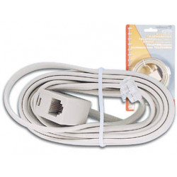 Cable telephone cord 4m rj11 to rj11 6p 4c for telephone plugs telephone cords phone cord