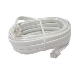 Cordon telephonique 4m rj12 vers rj12 6p6c fiche cable fil telephone video tcu364
