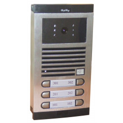 Color video intercom for 6 appartments street intercom audio system for building