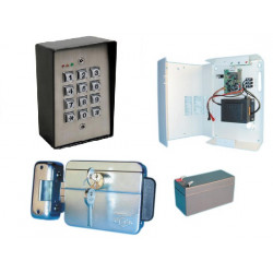 Self governing access control pack water resistant electric lock with code for door office house etc.