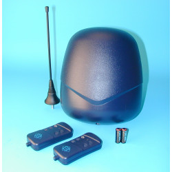 Pack domotique 2 telecommande radio t1f 1 recepteur rb1f 1 antenne 433mhz 433a securite transmission