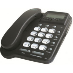 Telephone filaire pabx ecoute amplifie main libre 20 no (casque en option) amplificateur memoire