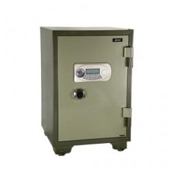 Safe box fireproof safe with code + key, 159kg 490x820x450mm metal case high security safe box code and key unlocking system fir