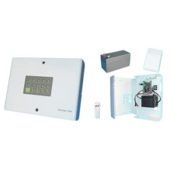 Telephone transmitter with 4 numbers 1 message with radio receiver alarm transmission telephone alarm automatic telephone dialer