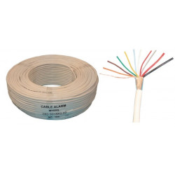 Sheathed flexible cable specially for alarm, 8x0.22 + 2x0.5 ø5.5mm, white, 100m phone cable fire alarm cable signal cable sheath