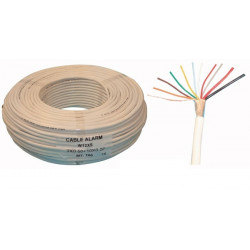 Sheathed flexible cable specially for alarm, 10x0.22 + 2x0.50 ø6mm, white, 100m phone cable fire alarm cable signal cable sheath