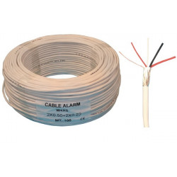 Sheathed flexible cable specially for alarm, 2x0.22 + 2x0.5 ø4mm, white, 100m phone cable fire alarm cable signal cable sheathed
