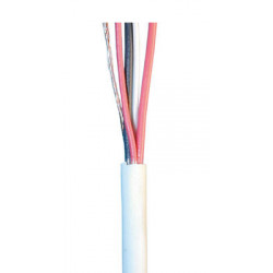 Sheathed flexible cable specially for alarm, 2x0,22 + 2x0.5 ø4mm, white, 1m phone cable fire alarm cable signal cable sheathed c