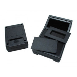 Abs box black 111 x 82 x 38mm