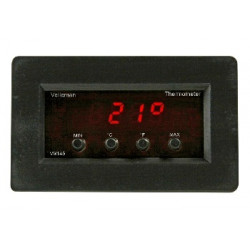 Digitales panelthermometer mit min max anzeige 9v 24vcc 7 17vca 30°c 120°c