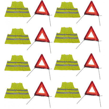 Safety triangle kit route 8 8 + r27 en11 reflective vest it in the 471